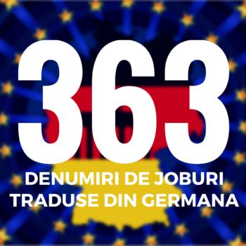363 denumiri de joburi in Germania traduse