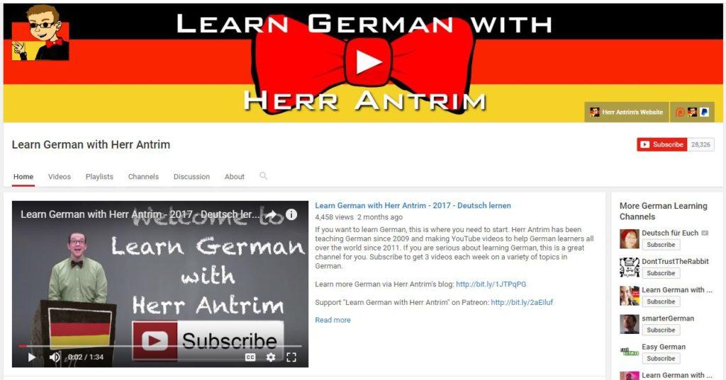 Germana pentru incepatori - Learn German with Herr Antrim