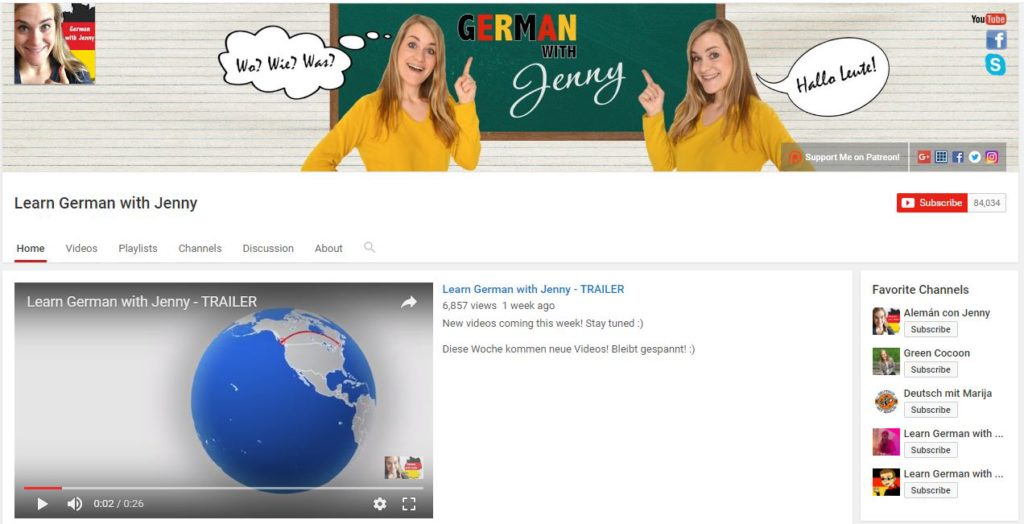 Germana pentru incepatori - Learn German with Jenny