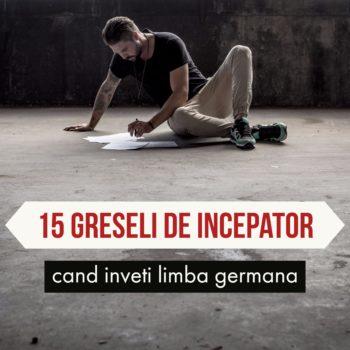 Invata limba germana – 15 greseli de incepator
