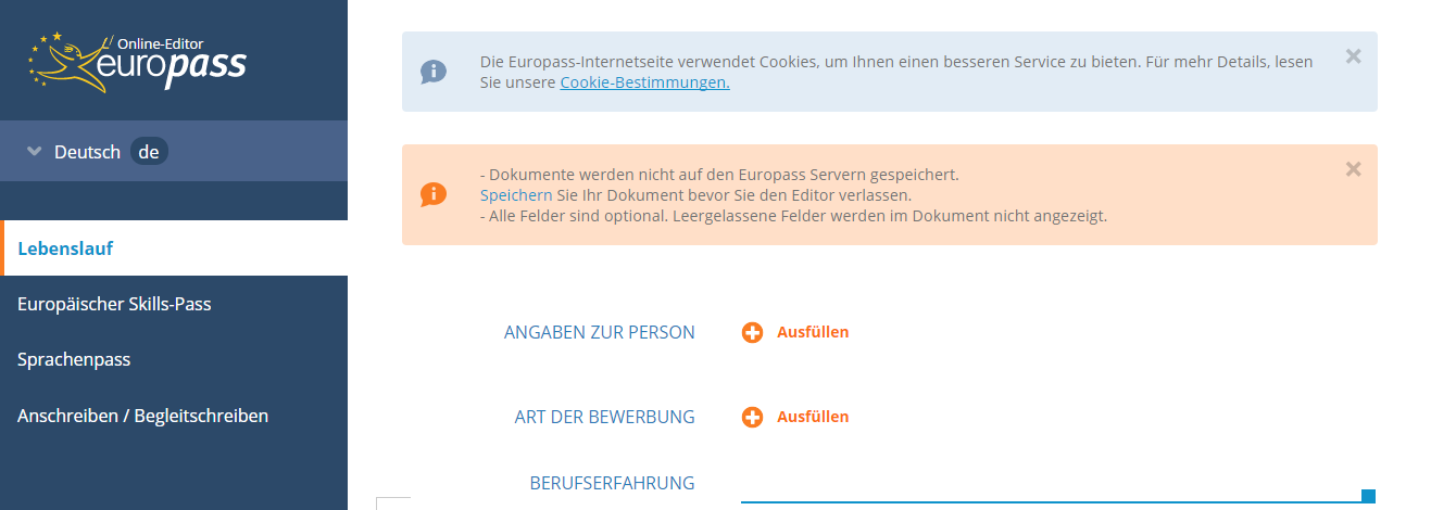 Pasul-1-CV-european-germana