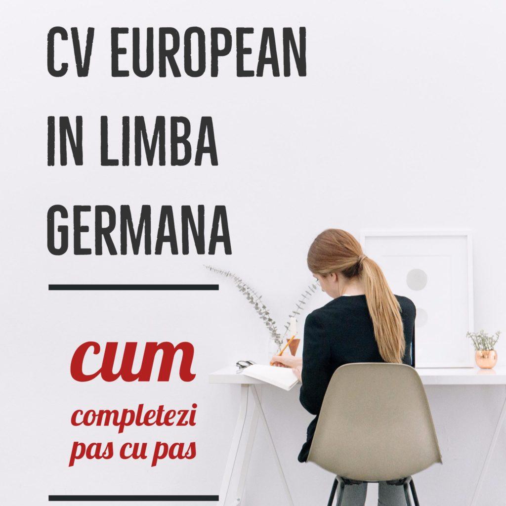 cv european in germana  ghid de completare pas cu pas