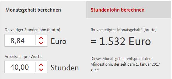 Calculator de salariu minim in Germania
