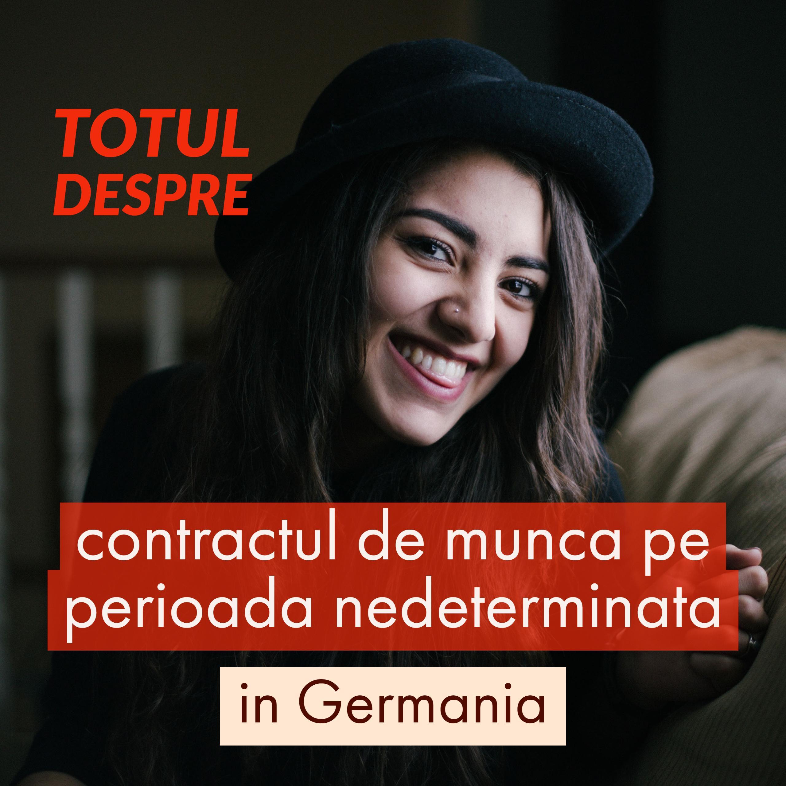 contractul de munca pe perioada nedeterminata in Germania