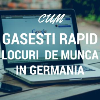 Locuri de munca in Germania - cautare online