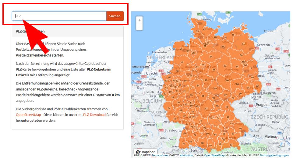 Cod postal Germania - cauta locuri de munca in Germania dupa regiune