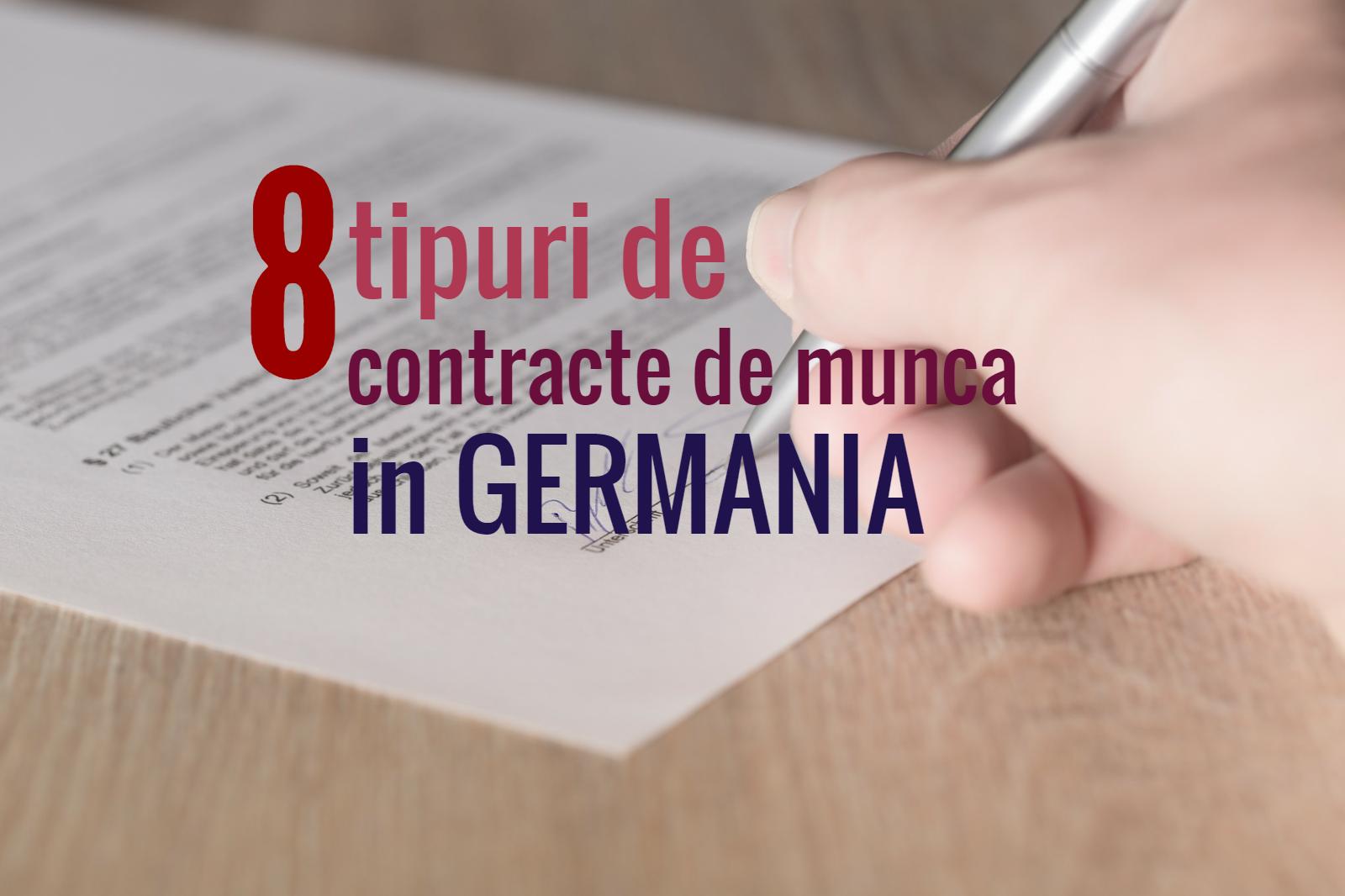 Gutejobs 8 Tipuri de contracte de munca in Germania