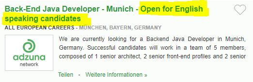 Locuri de munca in Germania in IT fara sa stii limba germana