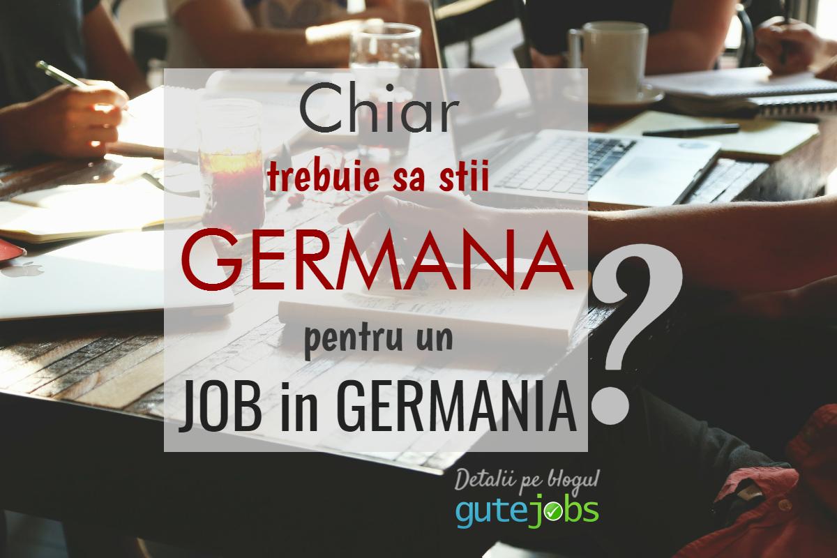 Job in Germania fara germana