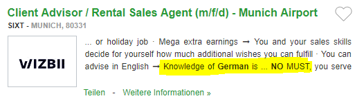 Loc de munca in Germania fara limba germana