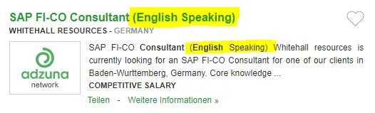 Locuri de munca in Germania in CONSULTANTA fara limba germana