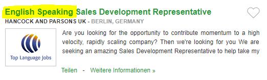 Locuri de munca in Germania in VANZARI fara sa trebuiasca sa stii limba germana