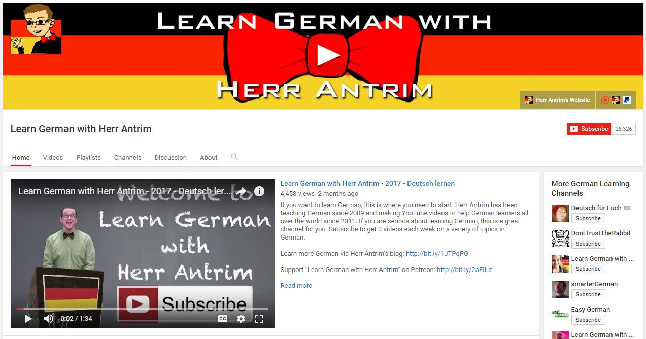 Germana pentru incepatori - Learn German with Herr Antrim