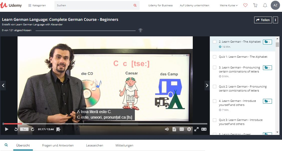 Germana pentru incepatori cursuri online Udemy