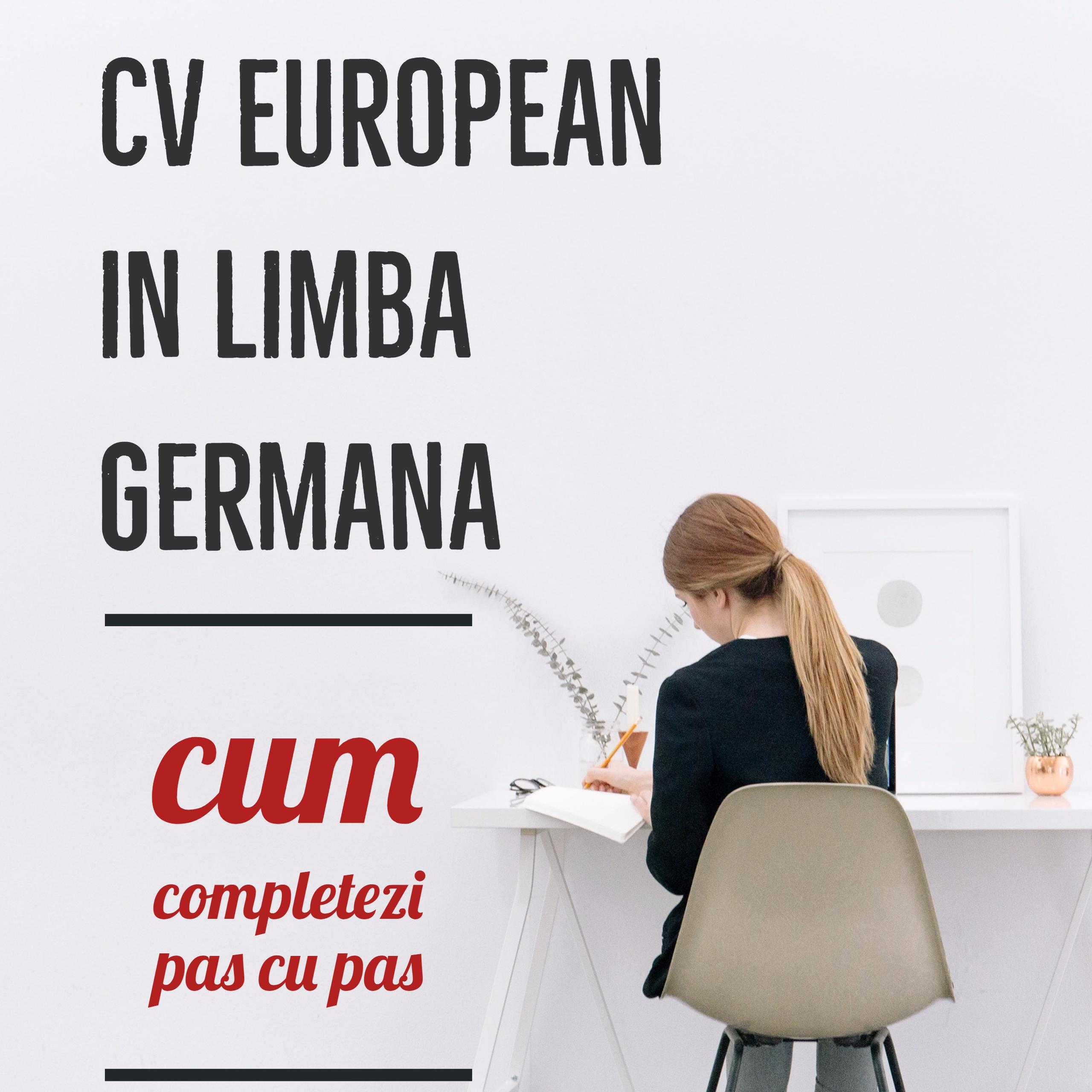 Completare CV european in germana