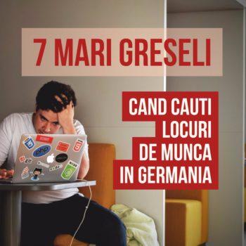 Cauti locuri de munca in Germania