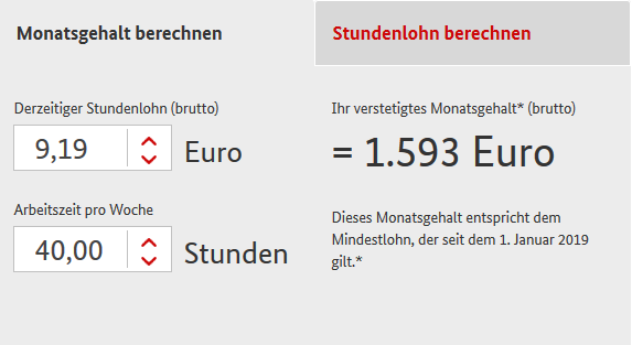 Calculator salariu minim in Germania