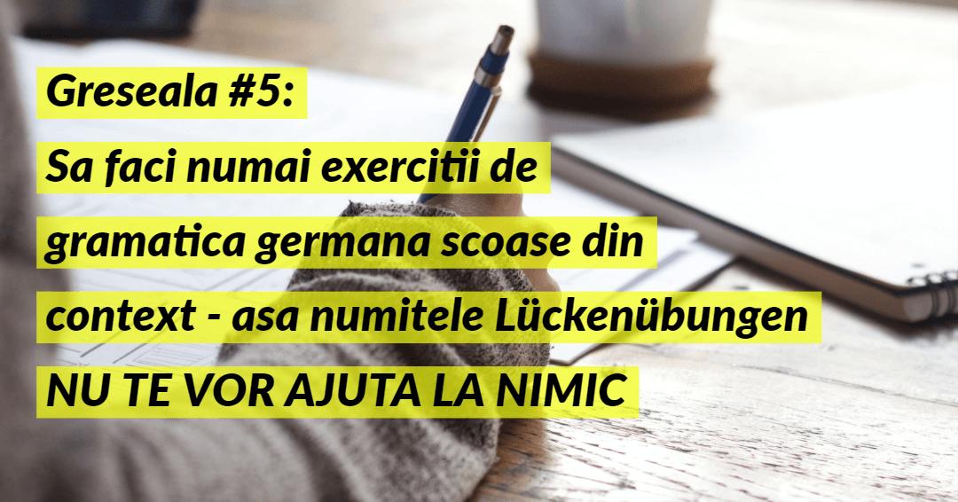 Invata limba germana Greseala 5
