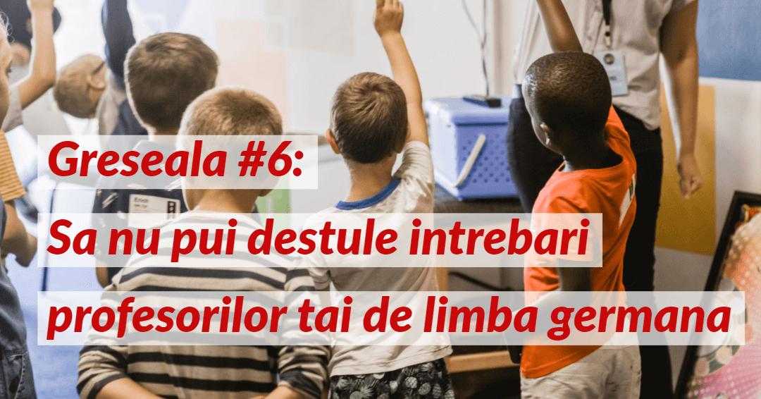 Invata limba germana Greseala 6