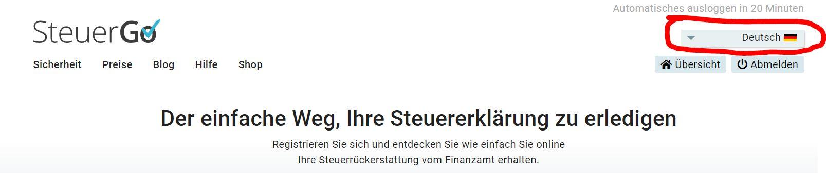 Steuererklärung Declaratie fiscala SteuerGo Germania