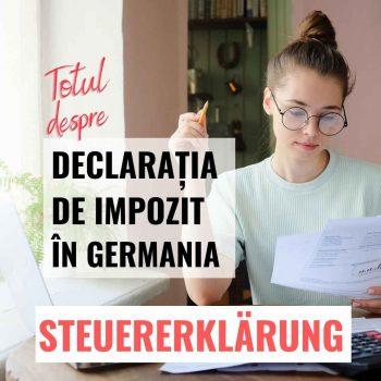 Steuererklärung Declaratia impozit Germania